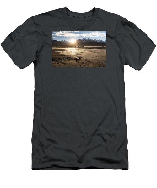 Chilkat River Sunset Men's T-Shirt (Slim Fit) by Michele Cornelius
