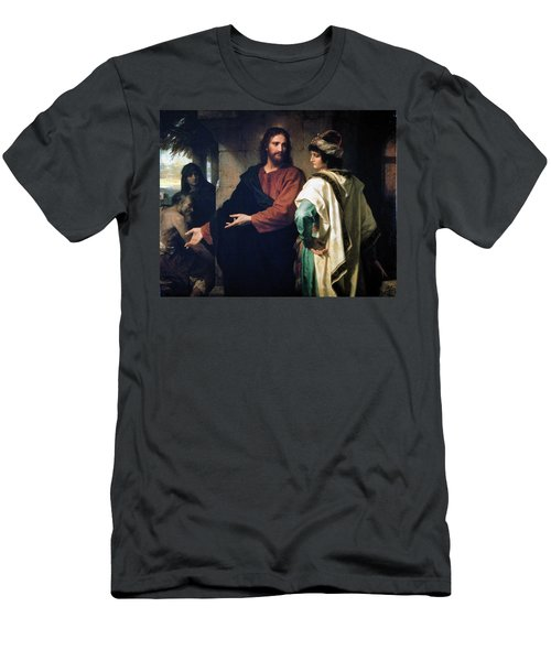 Christ And The Rich Young Ruler Men's T-Shirt (Athletic Fit)