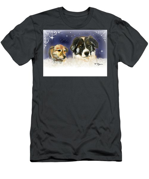 Christmas Doggies Men's T-Shirt (Athletic Fit)