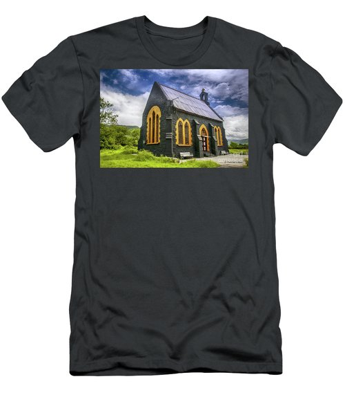 Men's T-Shirt (Slim Fit) featuring the photograph Church by Charuhas Images