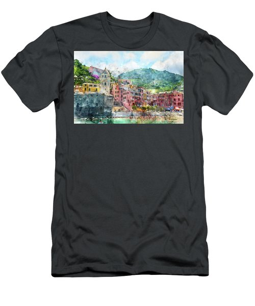 Cinque Terre Italy Men's T-Shirt (Athletic Fit)