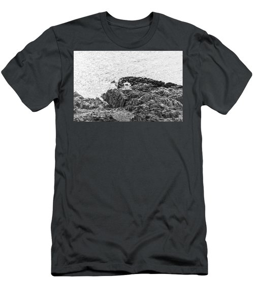 Men's T-Shirt (Athletic Fit) featuring the photograph Cliffs At Kullaberg by Michael Maximillian Hermansen