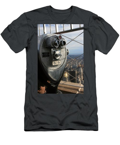 Men's T-Shirt (Athletic Fit) featuring the photograph Coin Operated Viewer by Debbie Cundy
