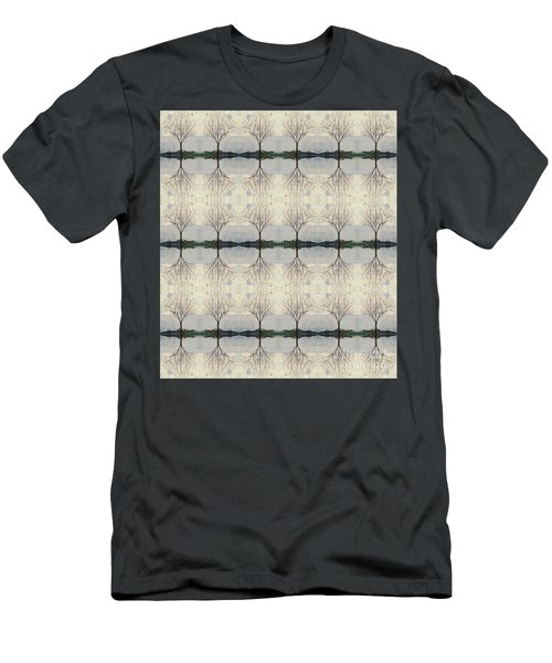 Colorado Cottonwood Tree Mirror Image  Men's T-Shirt (Athletic Fit)