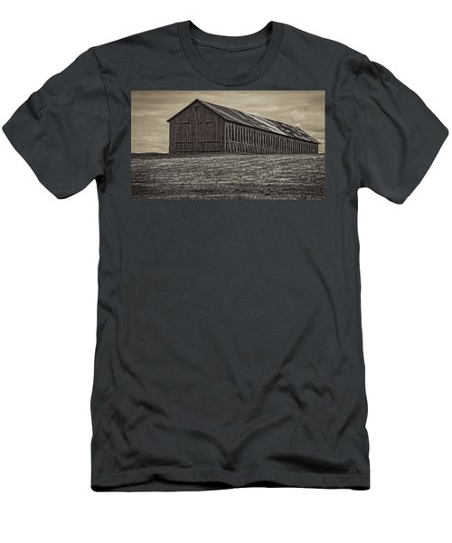 Connecticut Tobacco Barn Men's T-Shirt (Slim Fit) by Phil Cardamone