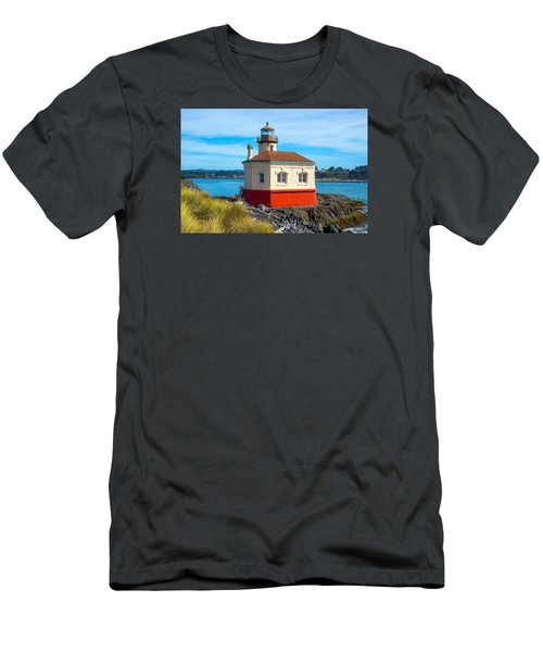 Coquille Lighthouse Men's T-Shirt (Slim Fit) by Dennis Bucklin