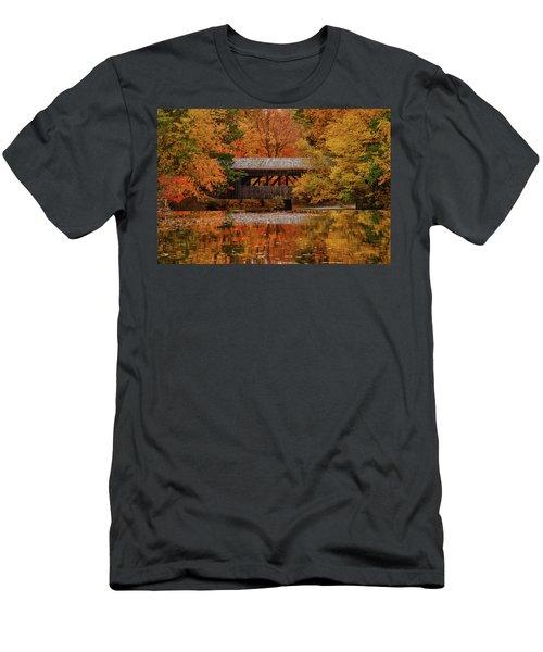 Covered Bridge At Sturbridge Village Men's T-Shirt (Athletic Fit)