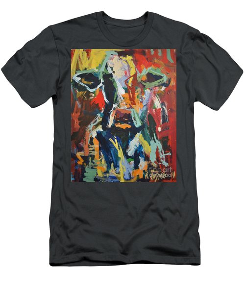 Cow Painting Men's T-Shirt (Athletic Fit)