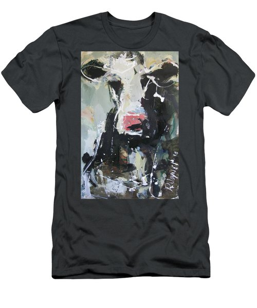 Cow Portrait Men's T-Shirt (Athletic Fit)