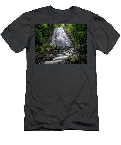 Crabtree Falls North Carolina Men's T-Shirt (Athletic Fit)