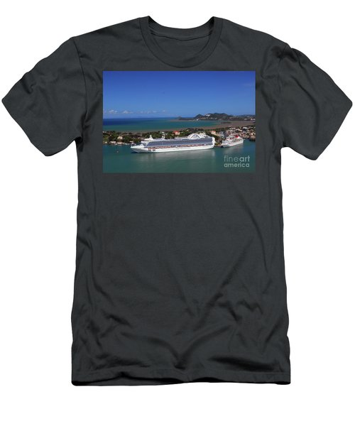 Men's T-Shirt (Athletic Fit) featuring the photograph Cruise Port by Gary Wonning