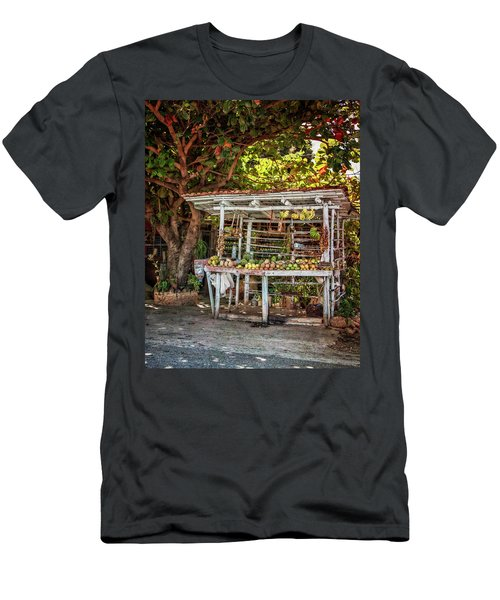 Men's T-Shirt (Slim Fit) featuring the photograph Cuban Fruit Stand by Joan Carroll