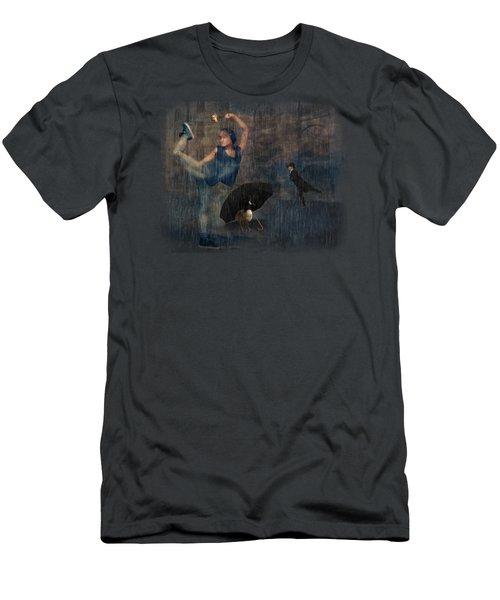 Dancing In The Rain Men's T-Shirt (Athletic Fit)