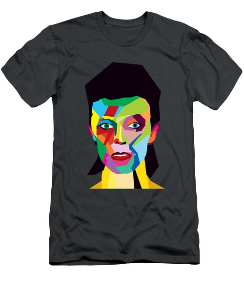 David Bowie Men's T-Shirt (Slim Fit) by Mark Ashkenazi