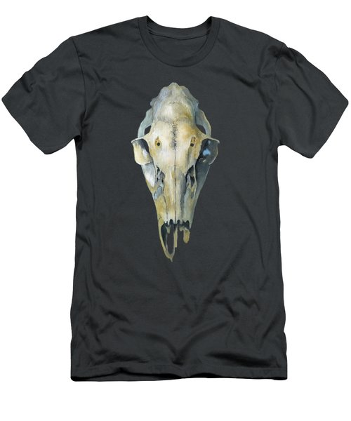 Deer Skull With Aura Men's T-Shirt (Slim Fit) by Catherine Twomey