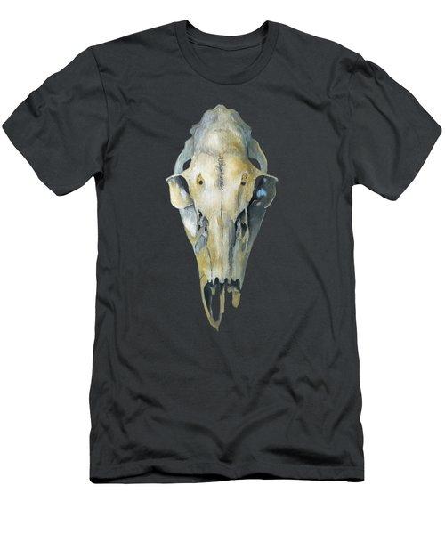 Deer Skull With Aura Men's T-Shirt (Athletic Fit)