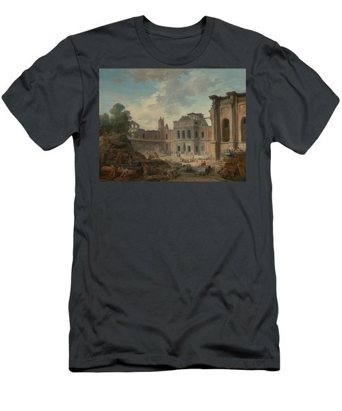 Demolition Of The Chateau Of Meudon Men's T-Shirt (Athletic Fit)