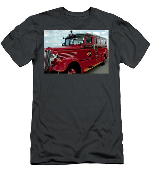 Detroit Fire Truck Men's T-Shirt (Athletic Fit)