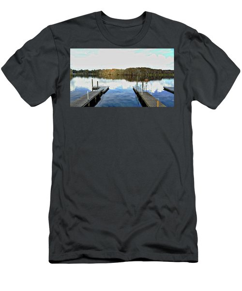 Dock Of The Bay Men's T-Shirt (Slim Fit) by Michael Albright