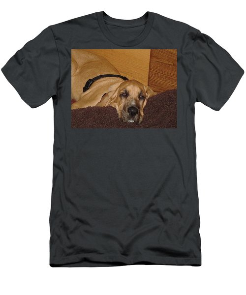 Dog Tired Men's T-Shirt (Slim Fit) by Val Oconnor
