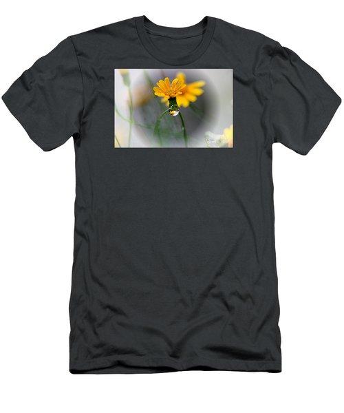 Double Yellow Men's T-Shirt (Slim Fit) by Yumi Johnson