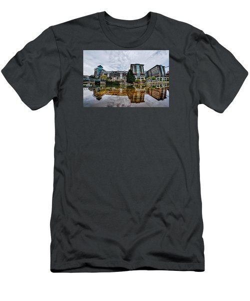 Downtown Of Greenville South Carolina Around Falls Park Men's T-Shirt (Slim Fit) by Alex Grichenko