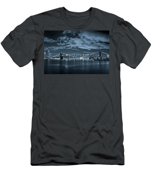 Men's T-Shirt (Slim Fit) featuring the photograph East River View by Az Jackson