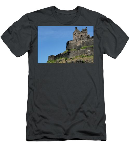 Men's T-Shirt (Athletic Fit) featuring the photograph Edinburgh Castle by Jeremy Lavender Photography
