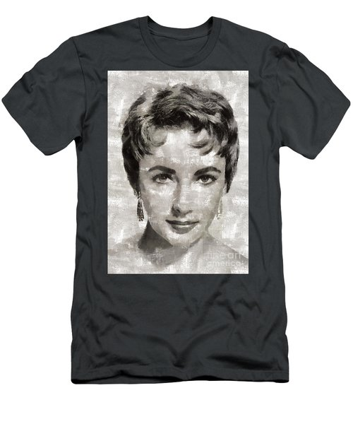 Elizabeth Taylor, Vintage Hollywood Legend Men's T-Shirt (Slim Fit) by Mary Bassett