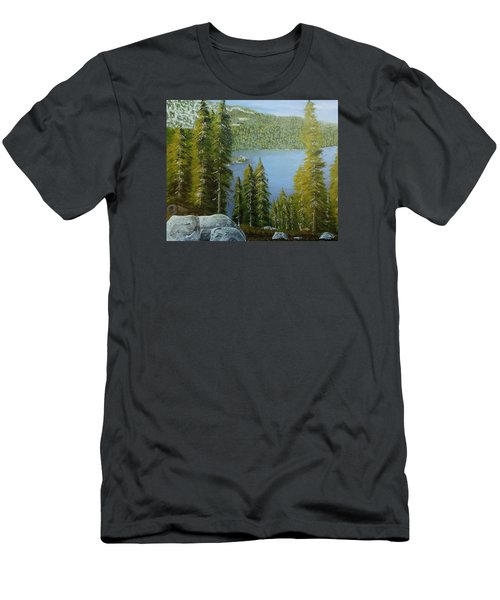 Emerald Bay - Lake Tahoe Men's T-Shirt (Slim Fit) by Mike Caitham