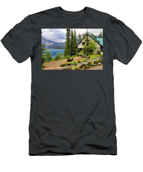 Emerald Lake Yoho National Park Men's T-Shirt (Athletic Fit)