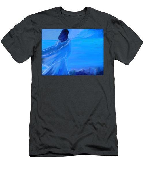 En Attente Men's T-Shirt (Slim Fit) by Aline Halle-Gilbert