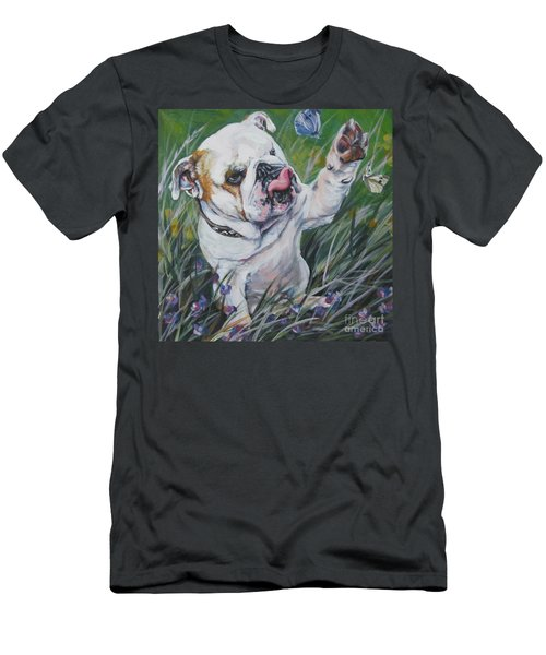 English Bulldog Men's T-Shirt (Slim Fit) by Lee Ann Shepard