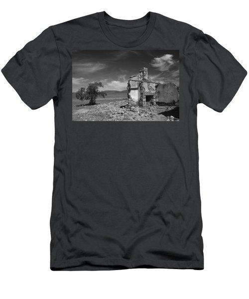 Farmhouse Cottage Ruin Flinders Ranges South Australia Men's T-Shirt (Slim Fit) by Ralph A  Ledergerber-Photography