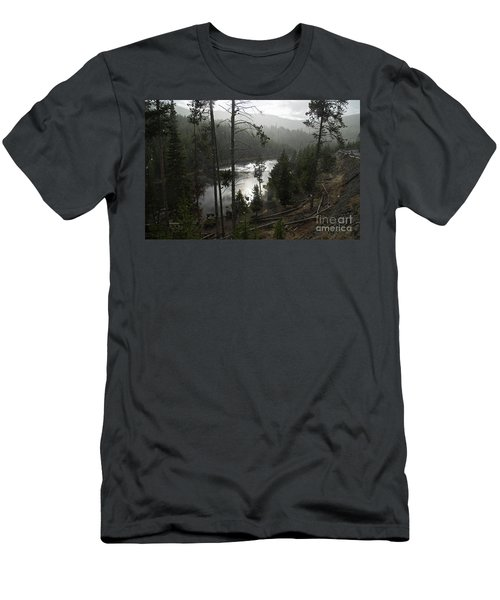 Firehole River In Yellowstone Men's T-Shirt (Slim Fit) by Cindy Murphy - NightVisions
