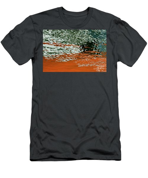 Men's T-Shirt (Athletic Fit) featuring the photograph Floating On Blue 43 by Wendy Wilton