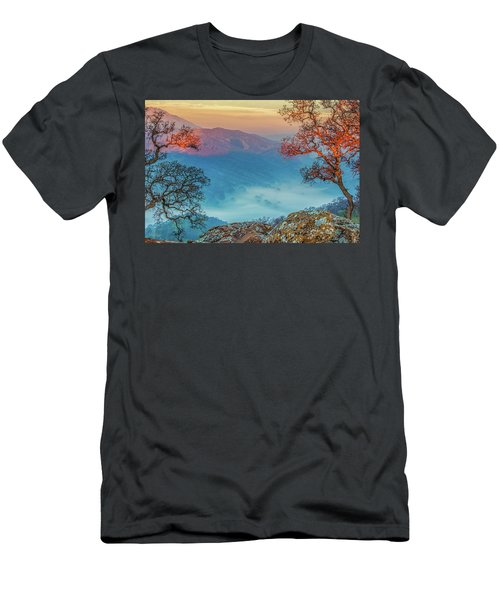 Fog In The Valley Men's T-Shirt (Slim Fit) by Marc Crumpler