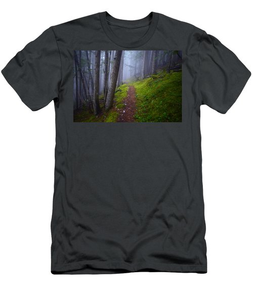 Men's T-Shirt (Slim Fit) featuring the photograph Forest Mysteries by Tara Turner