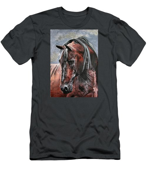 Men's T-Shirt (Slim Fit) featuring the painting Forever by Melita Safran