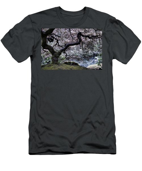 Garden View In Blue Men's T-Shirt (Slim Fit) by Don Schwartz