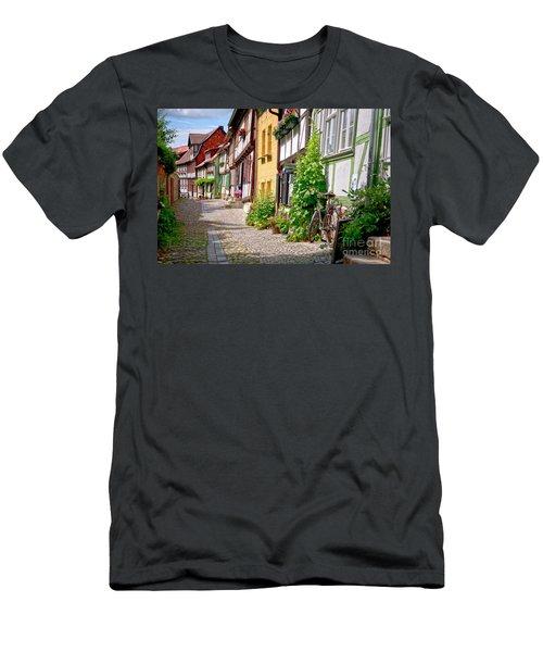German Old Village Quedlinburg Men's T-Shirt (Athletic Fit)