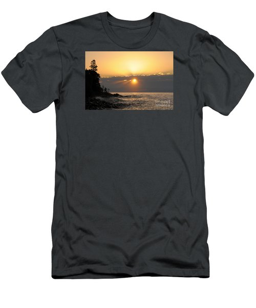 Men's T-Shirt (Slim Fit) featuring the photograph Golden Glow by Sandra Updyke