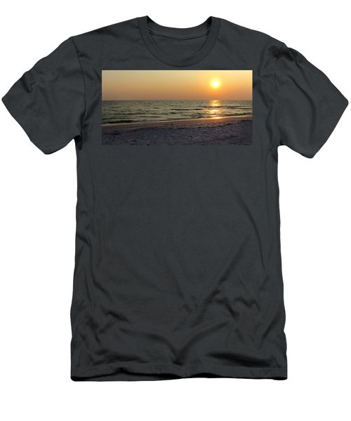 Golden Setting Sun Men's T-Shirt (Athletic Fit)