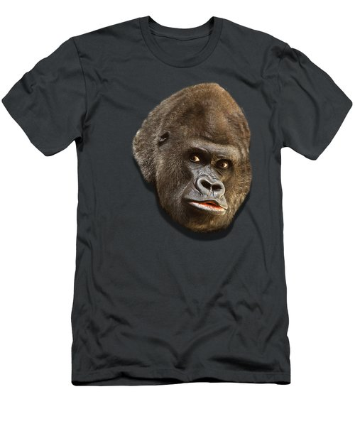 Gorilla Men's T-Shirt (Slim Fit) by Ericamaxine Price