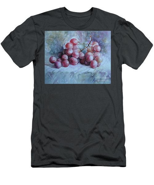 Men's T-Shirt (Slim Fit) featuring the painting Grapes... by Elena Oleniuc
