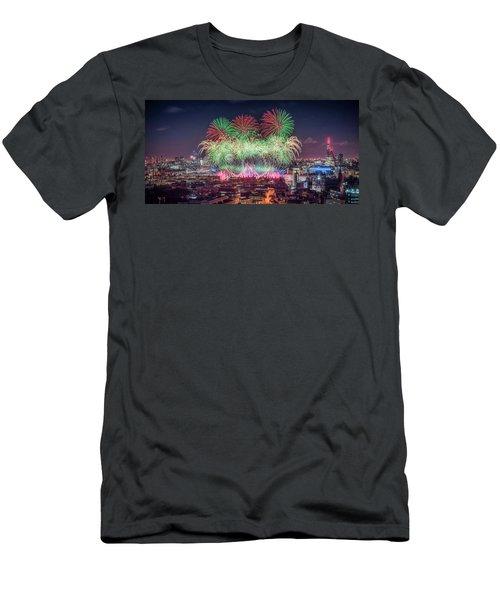 Happy 2018 Men's T-Shirt (Athletic Fit)