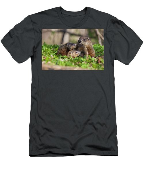 Happy Family Men's T-Shirt (Slim Fit) by Mircea Costina Photography