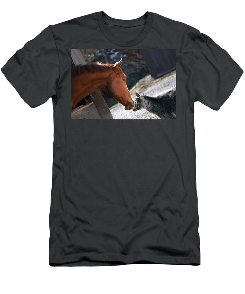 Men's T-Shirt (Slim Fit) featuring the photograph Hello Friend by Angela Rath