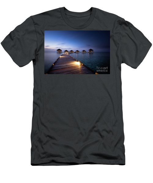 Men's T-Shirt (Slim Fit) featuring the photograph Honeymooners Paradise by Hannes Cmarits