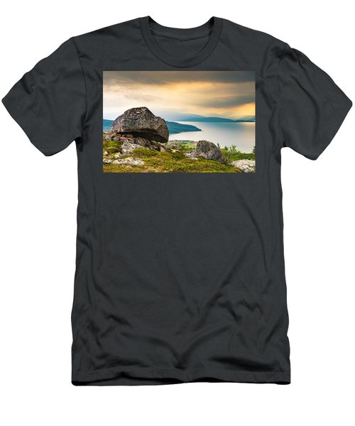 In The North Men's T-Shirt (Slim Fit) by Maciej Markiewicz